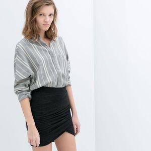 Zara Drapped Mini Skirt
